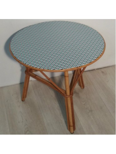 Table tripode en rotin